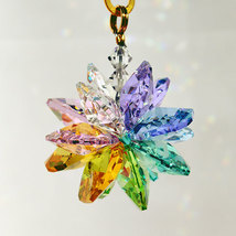 Small Colored Crystal Suncluster Ornament image 6