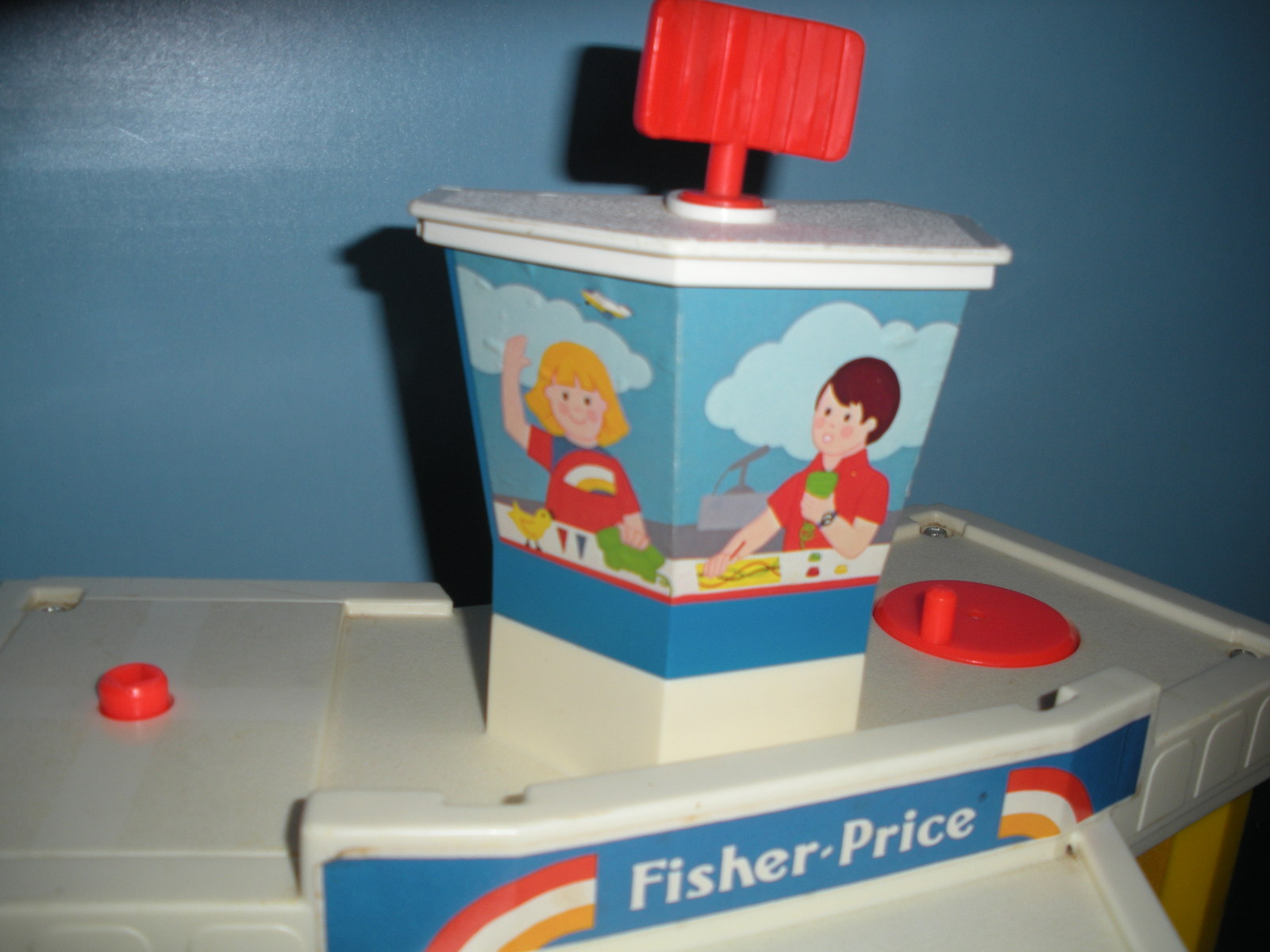 Vintage Fisher Price Play Family #933 Jetport Complete/VG+-VG++ (E) image 3