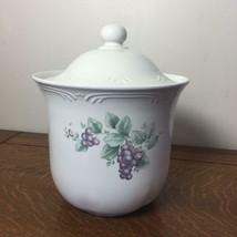PFALTZGRAFF Pottery Grapevine Canister Jar Lid Storage Kitchen Grapes Large #4 - $23.36