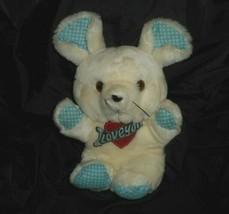 Vintage Ace Novelty Baby White & Blue Mouse I Love You Stuffed Animal Plush Toy - $27.70
