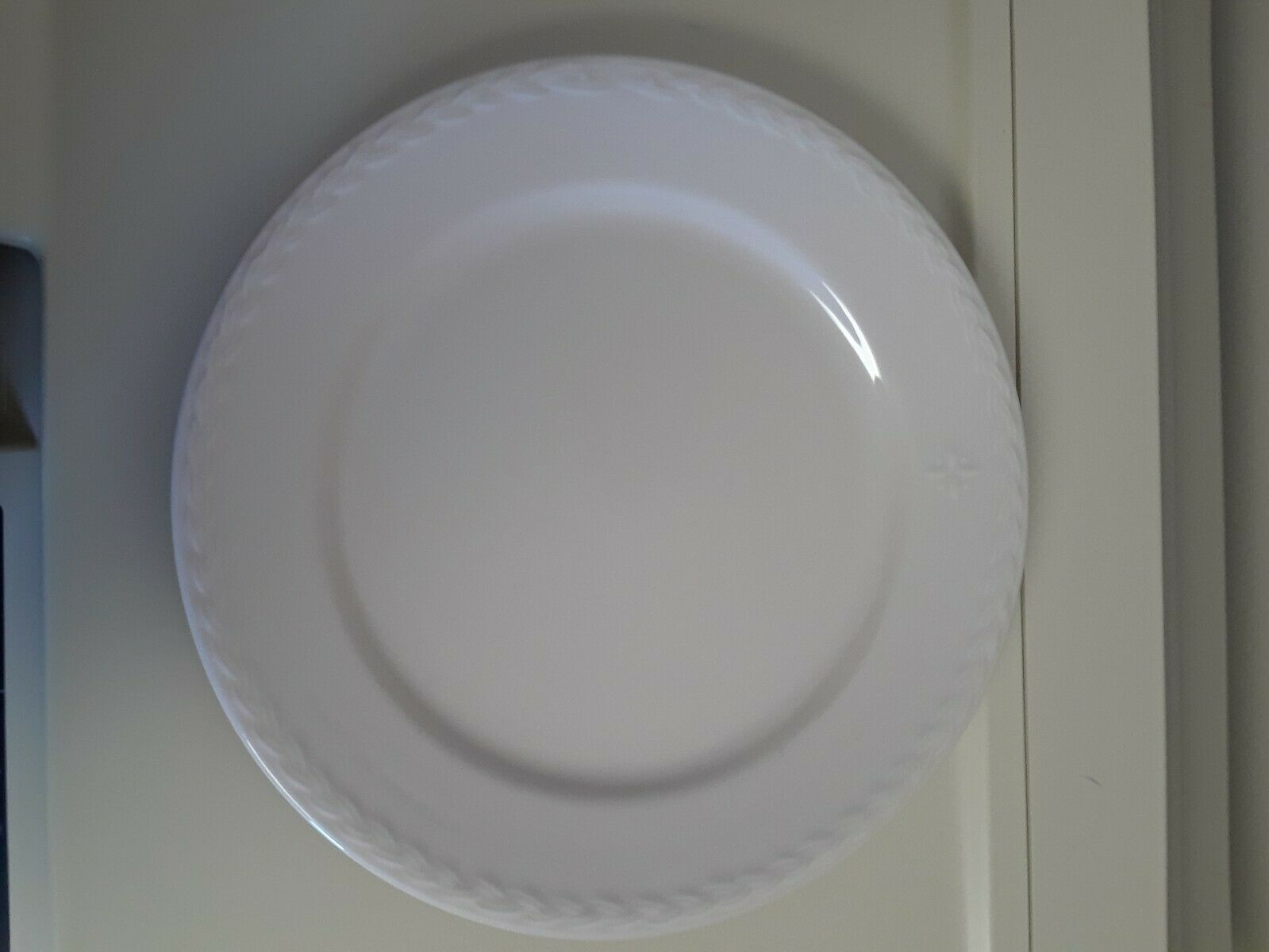 Primary image for Longaberger American Home Dinner Plate Ivory Made in America