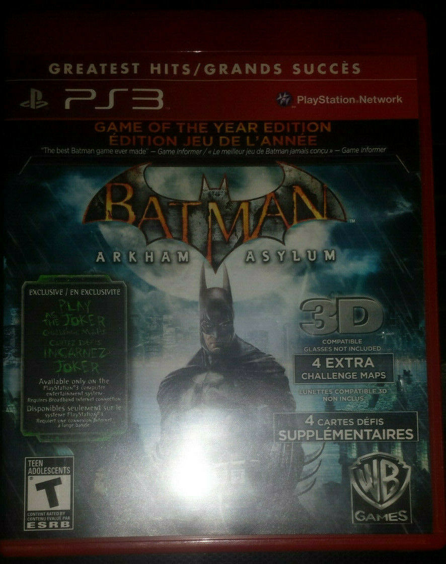 Primary image for Batman Arkham Asylum PS3 [Mint Condition][CIB][GotY][BLUS30515]