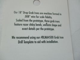"""Atlas # BLMA4510 Drop Grab Iron 18"""" .008 Wire 20 Per Pack HO-Scale image 4"""
