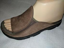 MERRELL Size 7 Brown Leather Slides Sandals Hike Travel Comfort - $22.76
