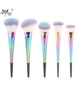 Anmor® 5 pcs/set Rainbow Makeup Brushes Portable Basic Face Kit Syntheti... - $29.60
