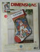 "NEW Dimensions Cross Stitch Kit Cute Carolers Stocking 8751 16"" Long NIP - $24.99"