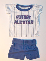 Carter's Infant Boys 2pc Shorts and Shirt Set Future All Star Size NB VGUC - $8.82