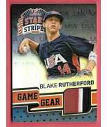 2015 Blake Rutherford Panini USA Stars and Stripes Rookie Patch 10/10 - ... - $23.74
