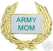 UNITED STATES ARMY MOM MOTHER GOLD  WREATH BRASS  PIN