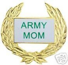 United States Army Mom Mother Gold Wreath Brass Pin - $13.53