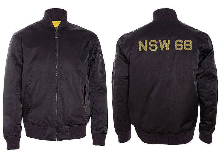 NIKE SPORTSWEAR NSW REVERSIBLE DESTROYER JACKET XS BLACK YELLOW 443877 010 MA-1