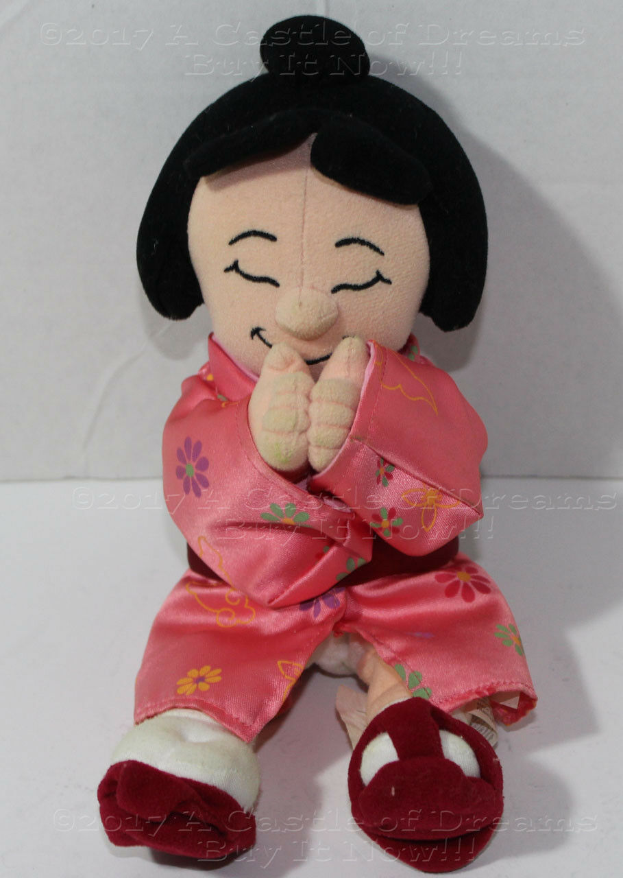 Disney IT'S A SMALL WORLD JAPAN GIRL Bean Bag STUFFED PLUSH SOFT TOY DOLL Cute
