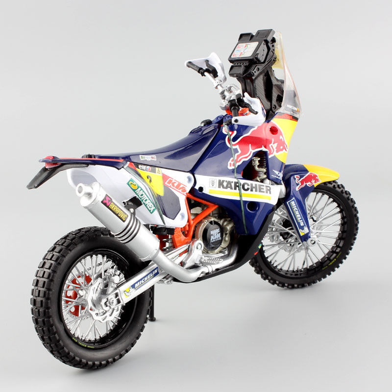 1:12 KTM SXF 450 Rally 2014 Red Bull No.2 Enduro Motorcyckle Dirt Bike Toy Blue