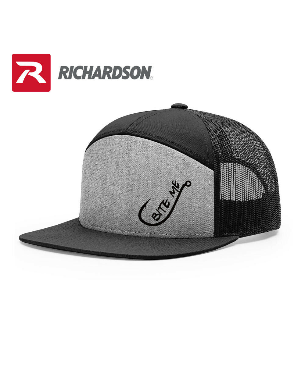Primary image for FISHERMAN BITE ME FISHING RICHARDSON FLAT BILL SNAPBACK HAT SHIPPING in BOX*