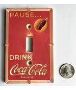 RUSTIC AUTHENTIC VINTAGE COCA COLA ART DECO STYLE SINGLE LIGHT SWITCH WA... - $53.99