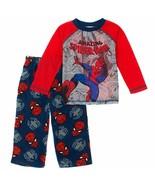 Marvel Spider Man Boys Long Sleeve Top Fleece Pants Pajama 2 PC PJ Set SpiderMan - $19.45