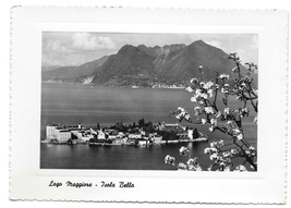 Lago Maggiore Italy Isola Bella Beautiful Isle Glossy Photo Capucci Post... - $8.99