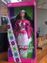 DOTW NATIVE AMERICAN BARBIE  DOLL 1994  DOLLS OF THE WORLD COLLECTOR #12... - $19.75