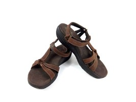 Skechers Shape Ups Women's Walking Sandals Brown Leather Toning Strappy ... - $44.37