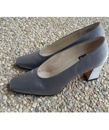 Nine West Silver Block Heels Shoes Size 7.5 - $18.99