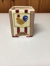 Vintage Rooster tea bag Holder / Dispenser -Handcrafted by MSRF, Inc - $5.00