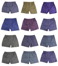 BRAND NEW MEN'S KING PACK OF 12 ASSORTED PLAID BOXER UNDERWEAR MULTI-COLORS M301