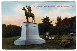 1907 The Medicine Man Indian Monument Fairmount Park Philadelphia PA DB ... - $49.49