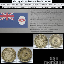 MALAYSIA Straits Settlement 2 Silver Coin Set in Box BRITISH EAST INDIA ... - $29.95