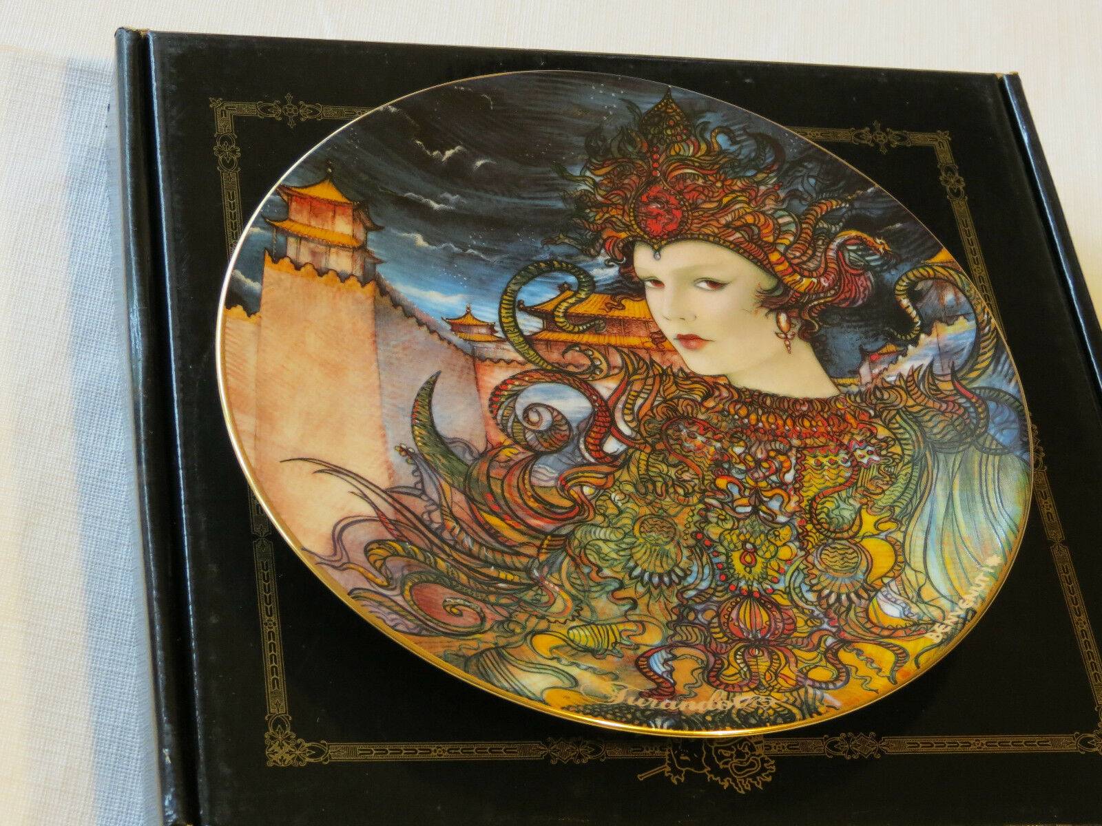 Primary image for Turandot collector plate 38-P63-1.6 1987 COA Box Riccardo Benvenuti Bradford #%