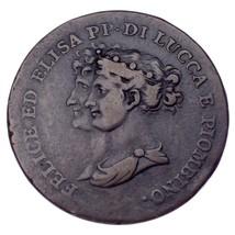 1806 Italian States Lucca 5 Centesimi KM #22 VF+ Condition - $247.50