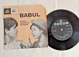 "1958's OLD 45 RPM ""BABUL MOVIE SONGS""-  ANGEL RECORDINGS, GRAMOPHONE RECORD - $40.41"