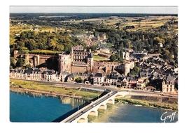 France Chateau de la Loire Amboise et Ville Aerial View Greff Postcard 4X6 - $6.40