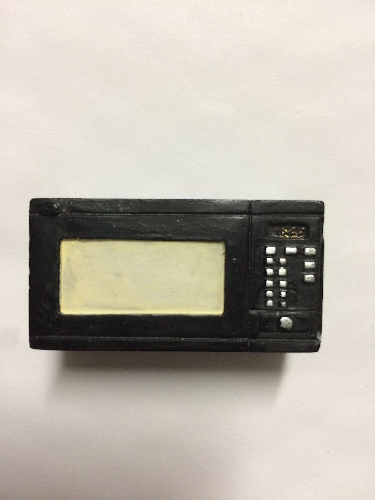 Dollhouse Miniature 1:12 Scale Black Resin Microwave #M1727