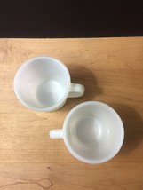 Set of 2 White D-Handle Fire King Mugs image 5