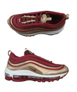 Nike Air Max 97 QS GS Noble Red Gold Size 6Y Women's 7.5 Shoes NEW BQ442... - $128.65