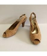 Sofft Cork Slingback Peep Toe Heels Women's Shoe Size 10 M  - $34.62