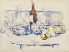 The Museum Outlet - Still Life with Carafe, Bottle, and Fruit, 1906, Str... - $147.51