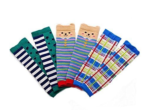Baby Cotton Socks Baby Leggings Comfy Leg Guards,3 Sets£¨Stripe)