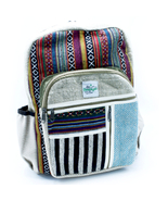 Eco Friendly Pure Hemp & Cotton Bags - Straight Zip Backpack 450g - $40.30