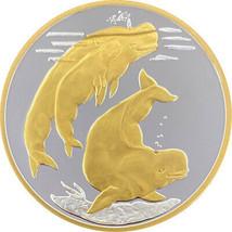 Alaska Mint Beluga Whale Medallion Silver Gold Medallion Proof 1 Oz. - $98.99