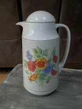 Vintage Corning Thermique  1 qt  Carafe - Floral - pour spout - $35.64