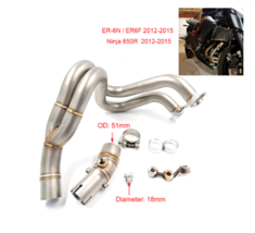 Motorcycle Exhaust Pipe Muffler With Link Pipe For Kawasaki Escape Slip-on - $220.49