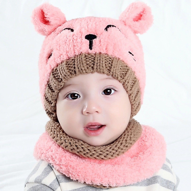 7c6e121ed4e 57. 57. Previous. Baby Cap Cute Crochet Beanie Bear Scarf Hat Caps Hats  Toddler Kids Winter Autumn