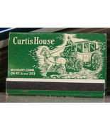 Vintage Matchbook Y4 Woodbury Connecticut Curtis House Horse Wagon Resta... - $44.99