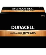 NEW Duracell Coppertop D Alkaline Batteries, Pack Of 12, 1.5 V - $32.20