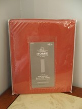 NIP j.c. penny $ 100 rialto 1 pair victorian red back tab curtain panels... - $61.38