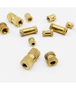 M2 M2.5 M3 Metric Thread Brass Knurl Insert Nut 50X M2 M2.5 M3 Solid Bra... - $2.60+