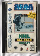 ☆ NHL All-Star Hockey (Sega Saturn 1995) Complete in Case Game Tested Wo... - $7.99