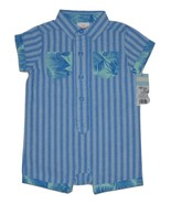 Baby Boys' Romper - Cat & Jack  Blue Stripe 6-9 Months - $6.00