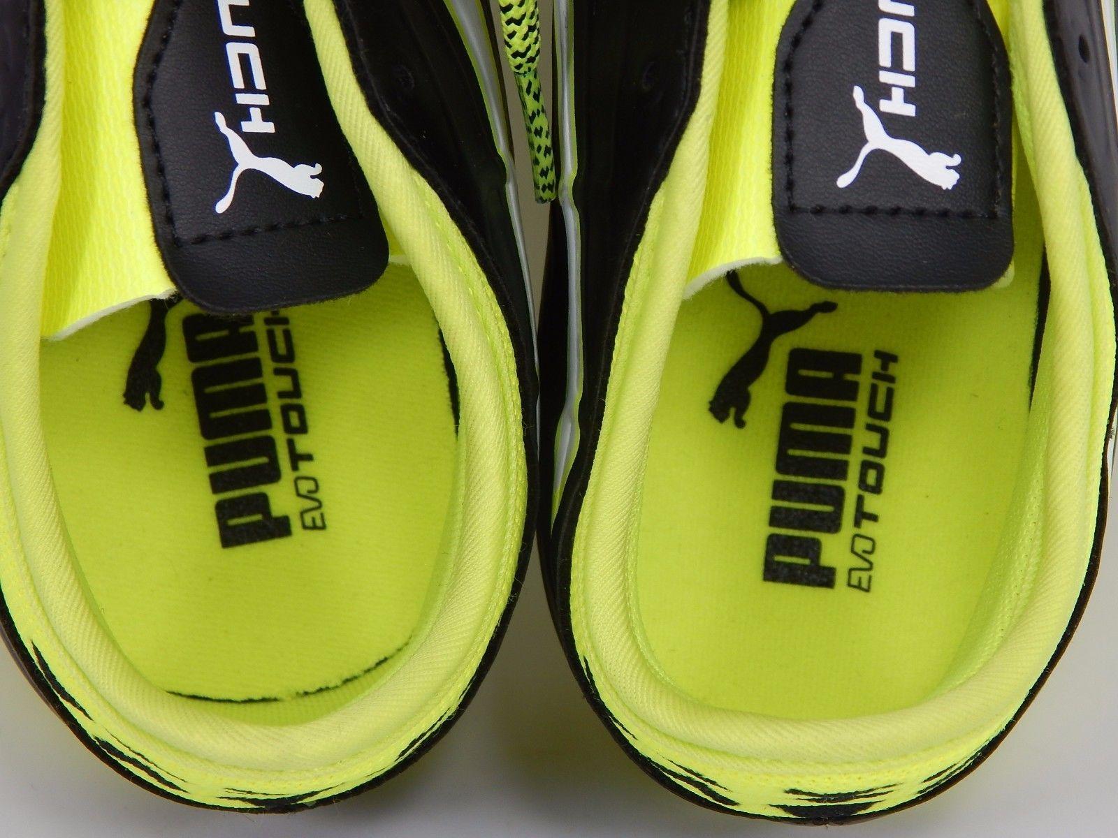 Puma evoTouch 3 TT Men's Soccer Cleats Size US 8.5 M (D) EU 41 Black Yellow